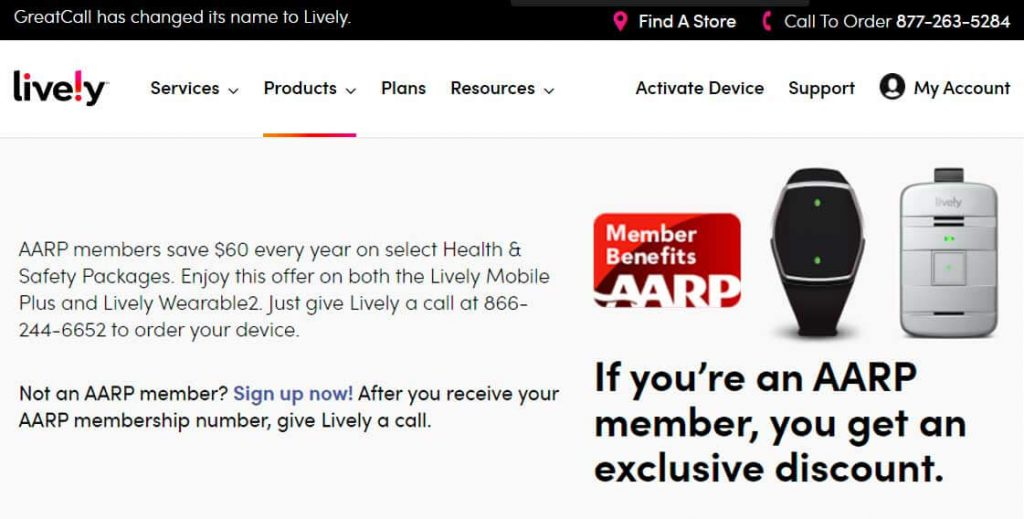 Lively AARP discount
